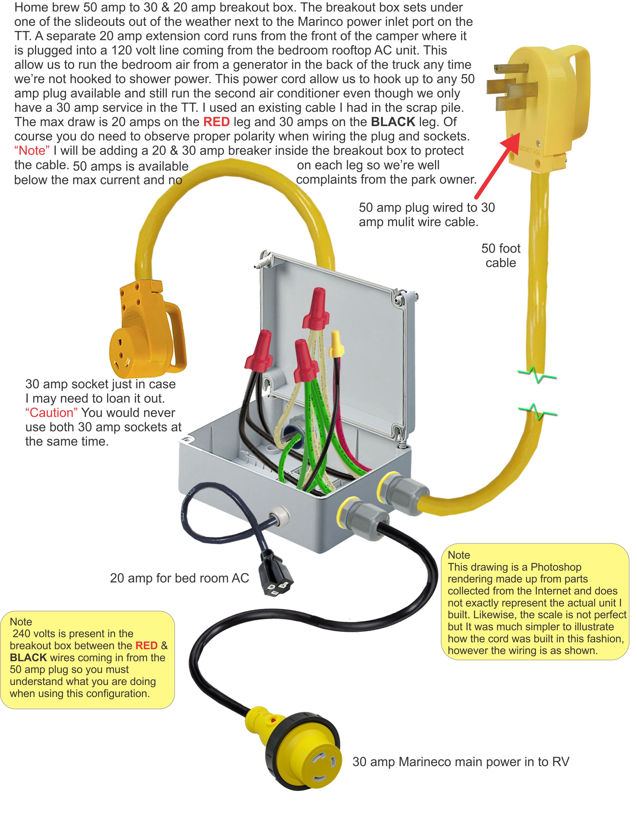 50 amp to 30 amp adapter wiring diagram   39 wiring